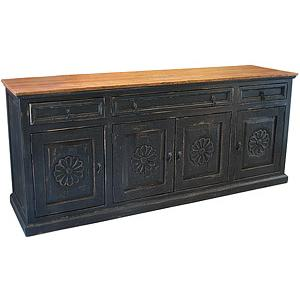 Carved Flower Cabinet/Sideboard