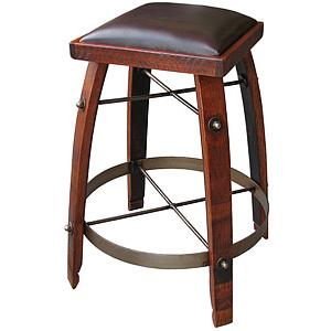 Chocolate Leather Stave Stool