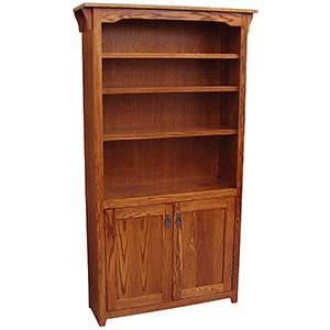 American Mission Oak Bookcase w/ Doors