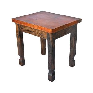 Isidro End Table w/ Copper Top