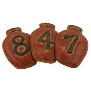 House Numbers: Red Ginger Jar