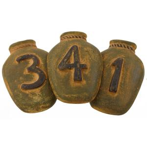 House Numbers: Green Ginger Jar