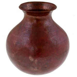 Ajuno Copper Vase:Natural Finish