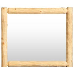 Log Wall Mirror