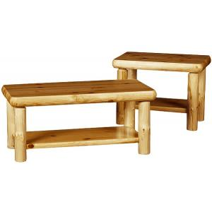 Northwoods Occasional Tables w/ Shelves