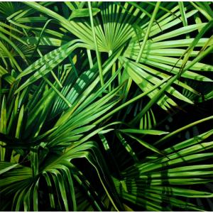 Palm Fronds Oil Painting on Canvas