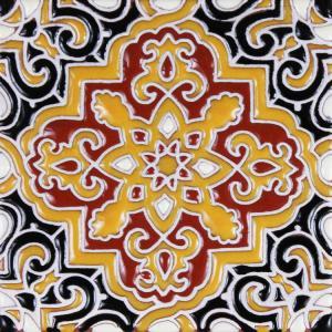 Morocco Talavera Relief Tile