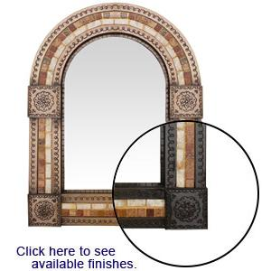 Arched Tile Mirror w/ Onyx & Marble Tiles