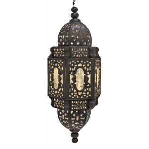Hearts Lantern w/Antiqued Glass