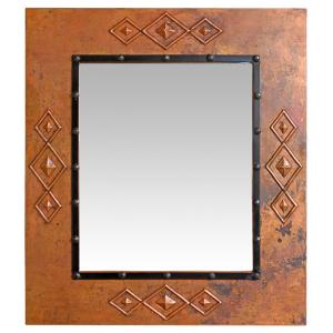Southwest Copper Mirror w/ Nails
