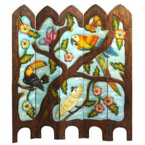 Tropical Birds / MacawsTwo-Sided Room Divider