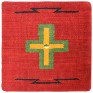 Wool Throw Pillow: Zapotec Design PMC