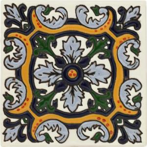 Fuente Real Talavera Relief Tile