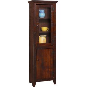 Colonial Storage Cabinet w/ Glass
