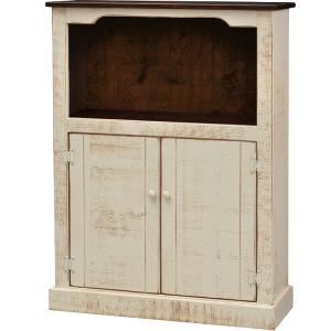 2-Door Cupboard w/ Hutch