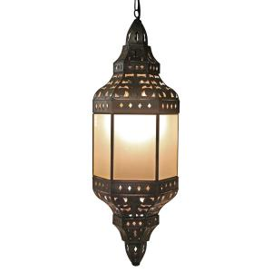 Manantial Lantern w/Frosted Glass