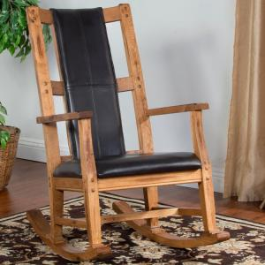 Rustic OakRocker w/ Cushion