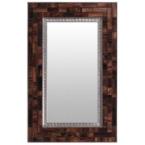 Glass Tile Mirrorw/ Brown Glass Tiles