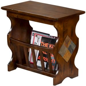 Santa FeMagazine Table w/ Slate