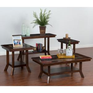 Santa Fe Slate Top Tables w/ Shelves