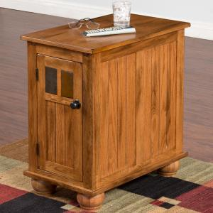 Rustic OakSliding Top Cabinet