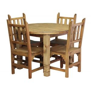 Round Julio Dining Set w/ New Mexico Chairs