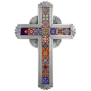 Talavera Tile Cross: Natural Finish