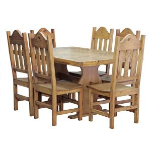 Trestle Dining Set w/ Santana Chairs