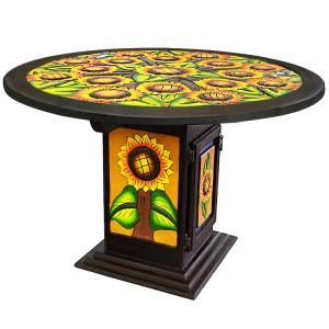 Round Sunflower Dining Table #1