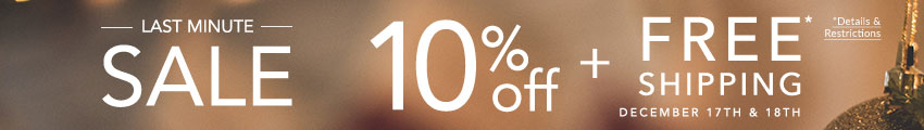 Today & Tomorrow Only - 10% Off All Orders