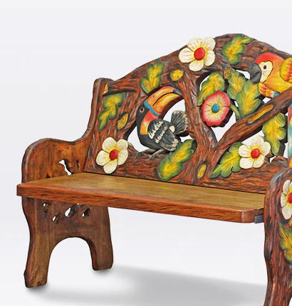 Mexican Carved Wood Furniture Accessories Hand Painted Furniture