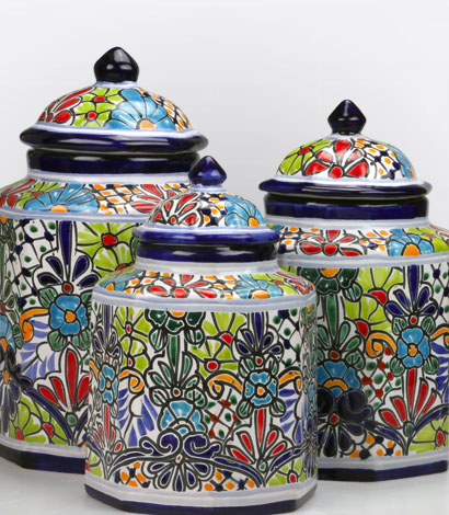 Mexican Talavera Kitchen Canisters