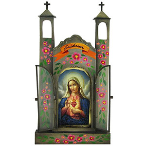 Mexican Religious Folk Art, Statues, Figurines & Crosses for