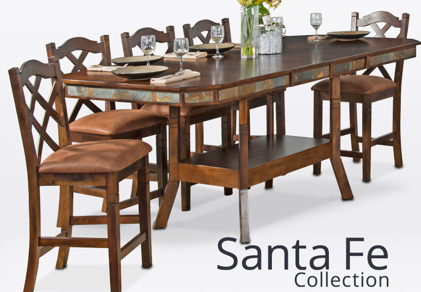 Santa Fe Furniture Santa Fe Style Rustic Furniture Collection